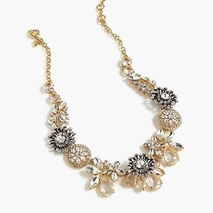 NWT J Crew Crystal leafy statement necklace